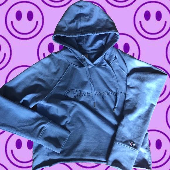 Baby blue champion hoodie(never worn!)